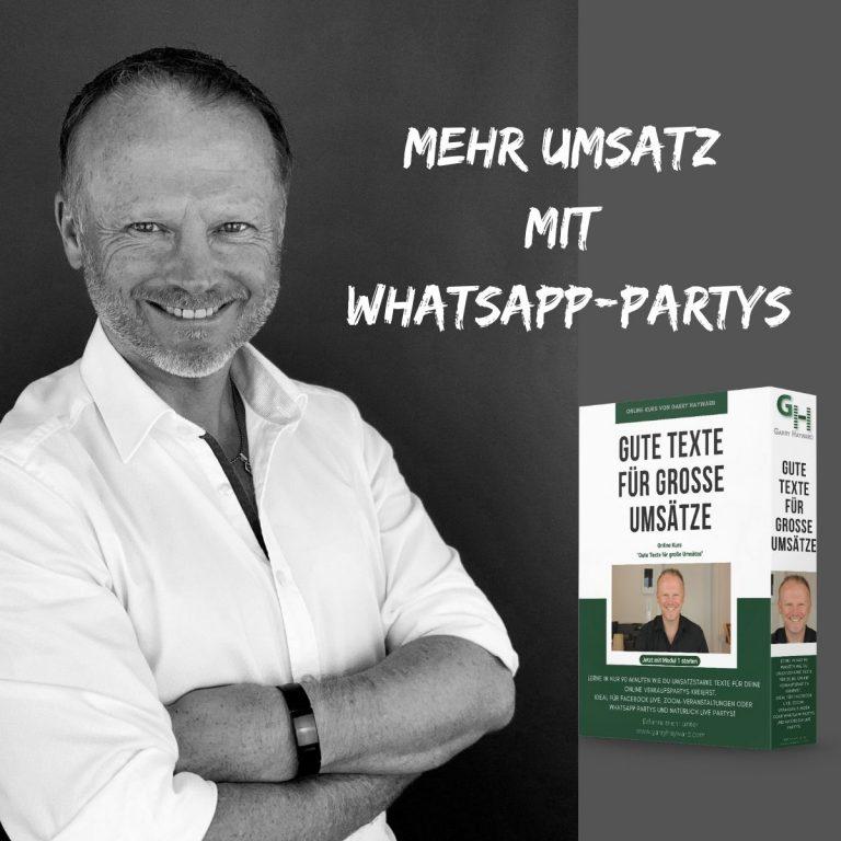 Garry-Hayward_Mehr Umsatz mit WhatsApp-Partys